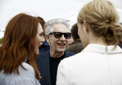 Julianne Moore, David Cronenberg and Mia Wasikowska at the 2014 Cannes Film Festival